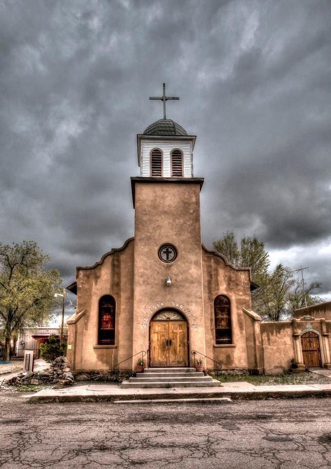St Josephu0027s Church Cerrillos NM Via Meanwhile