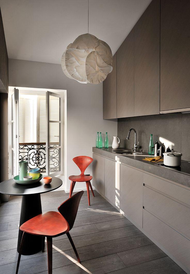cuisine douce et design kitchen - Cuisine Taupe Claire Et Mur Eb