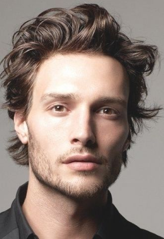 Men S Hairstyle Medium Length Image Mens Hairstyles Medium Medium Length Hair Styles Long Hair Styles Men
