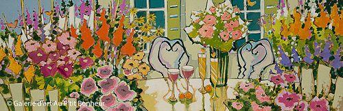 Claudette Castonguay, 'Falling in Love With You', 12'' x 36'' | Galerie d'art - Au P'tit Bonheur - Art Gallery