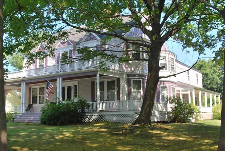Elegant 1872 victorian home for sale in lakes region nh for House with wrap around porch for sale