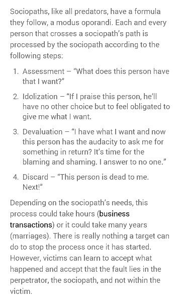 A help for narcissistic sociopath relationship survivors.