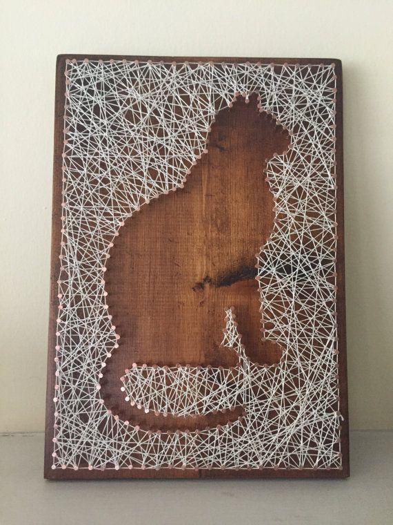 Cat Copper Nail String Art by BoundAsOne on Etsy Mehr