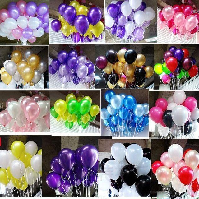 20 шт./лот 10 inch1.2g Гелий воздушный шар Латекса Круглые шары 16 цветов Толщиной Жемчужные воздушные шары Свадьба День Рождения Воздушные Шары