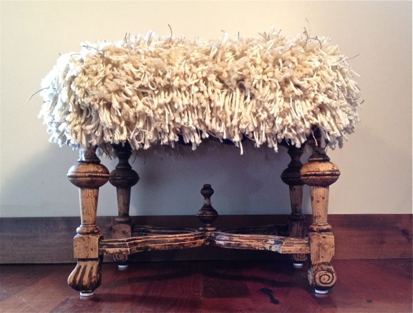 shaggy ottoman http://countrydesignstyle.com  #knockoff