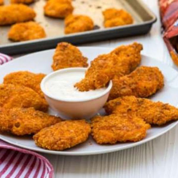 Frango Empanado no Doritos, experimente essa delícia!  #chicken #doritos #delicia