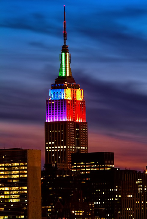 The Empire State Building supporting marriage equality back in 2011... PrideAgenda MarriageEquality