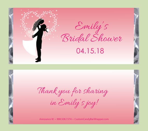 silhouette bridal shower candy bar wrappers bridal shower ideas pinterest bridal showers and bridal showers