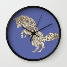Lace Fox Wall Clock by I Love the Quirky
