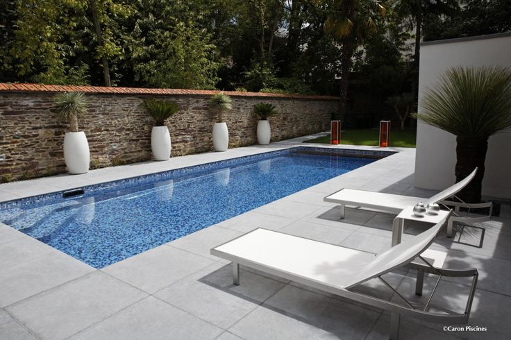 Couloir de nage 4 x 11 m piscine pool pinterest for Pool decor design
