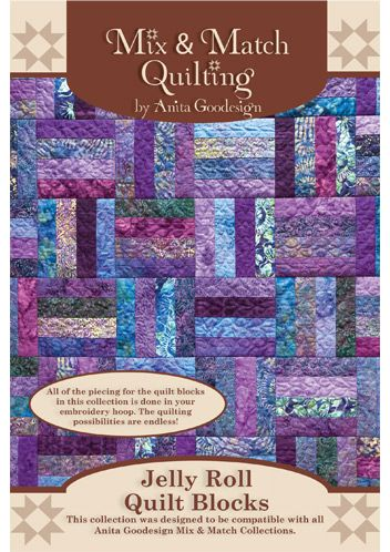 Anita Goodesign | Jelly Roll Quilt Blocks - Anita Goodesign. Would love this, are you listening Jeff?