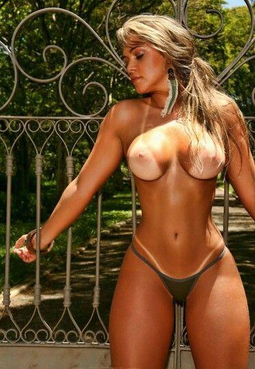 hot skinny girl nude camo shirt