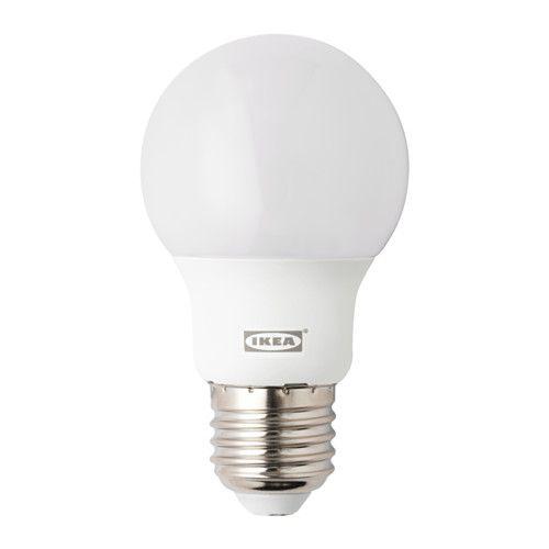 RYET LED-Lampe E27 400 lm IKEA LED-Lampen verbrauchen ca. 85 % weniger Energie und halten 10-mal länger als Glühlampen.
