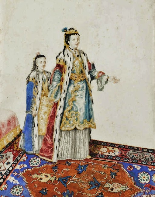 1770s Unknown artist (1702-1789) Woman and Girl in Turkish Clothes (after Liotard?)