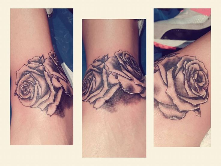 Rose rosa black white ink tattoo tatuaggi #gardenoftattoo