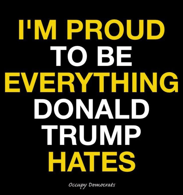 I am Proud to be A Decent, Intelligent, Compassionate, Caring American....EVERYTHING TRUMP AND HIS VOTERS/SUPPORTERS AREN'T!!