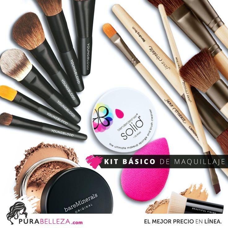 Kit básico de maquillaje ¡Las brochas son infaltables!