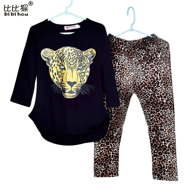 Girls Clothes Toddler Girls Clothing Sets Baby Girls Kids Clothes Children Clothing Full Sleeve T Shirt Leopard Legging Vestidos www.peoplebazar.net    #peoplebazar