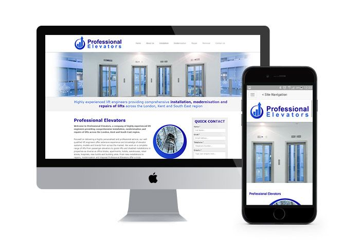 Company Branding, Responsive Website Design and Ongoing SEO for Professional Elevators