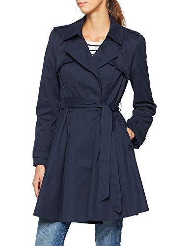 Genial Naf Naf JHNV1 Trench Coat Femme (Bleu Marine 567) (Taille Fabricant: 34