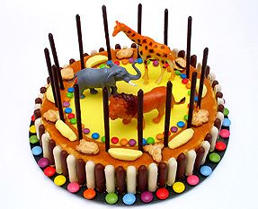 gâteau cage animaux