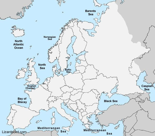 19 best map quiz images on pinterest labeled map of bodies of water in europe gumiabroncs Image collections