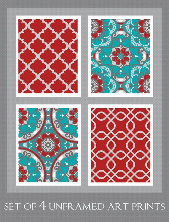 154 Best Turquoise And Red Decor Images On Pinterest Home Ideas Color Combinations Armchairs