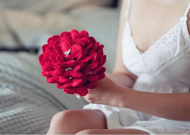 Heart Wedding Bouquet