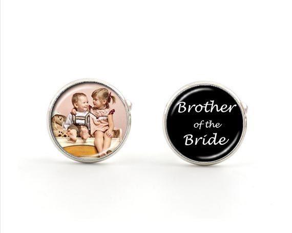 Wedding Cufflinks - Brother of the Bride - Custom Photo Cufflinks on Etsy, $34.95