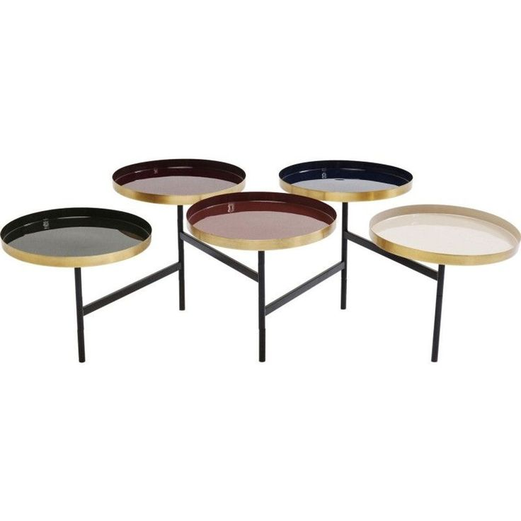 Table Basse Curve Multicolore Laiton Kare Design - Taille ...
