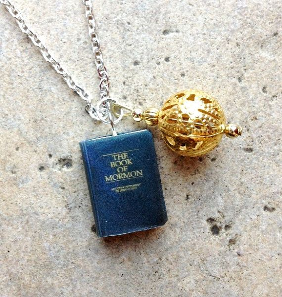 x 5  BookOFMormon Necklace with Book Charm and by sophiesbeads