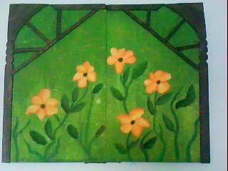 Ventanal flores amarillas