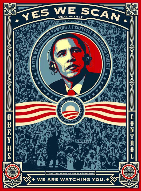 OBEY Obama, Yes we scan Galería virtual territoriotoxico.wordpress.com