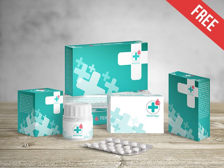 Medical Packaging - Free PSD Mockup
