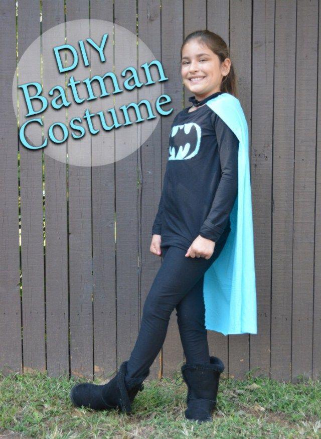 DIY Batman Costume for Tween Girls