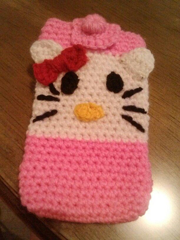 Funda para celular de kitty mis creaciones de crochet - Fundas para cambiador de bebe ...