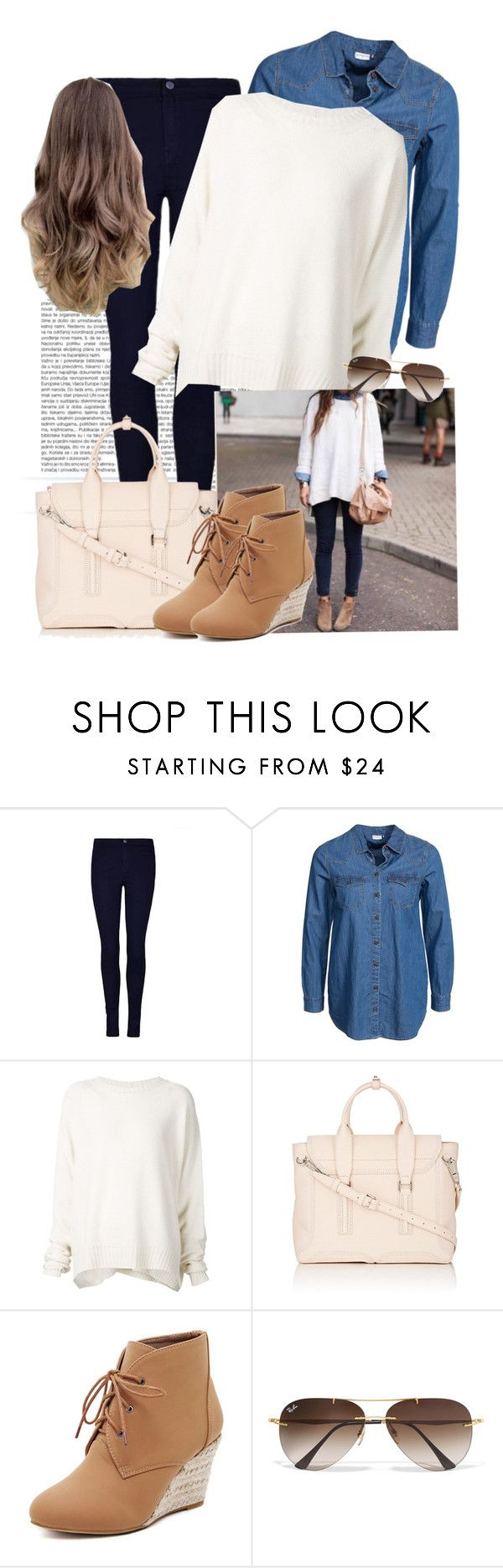 """""""Smart casual"""" by aatkins ❤ liked on Polyvore featuring Jacqueline De Yong, URBAN ZEN, 3.1 Phillip Lim, WithChic, Ray-Ban, women's clothing, women, female, woman and misses"""