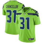 Kam Chancellor Nike Neon Green Vapor Untouchable Color Rush Limited Player Jersey