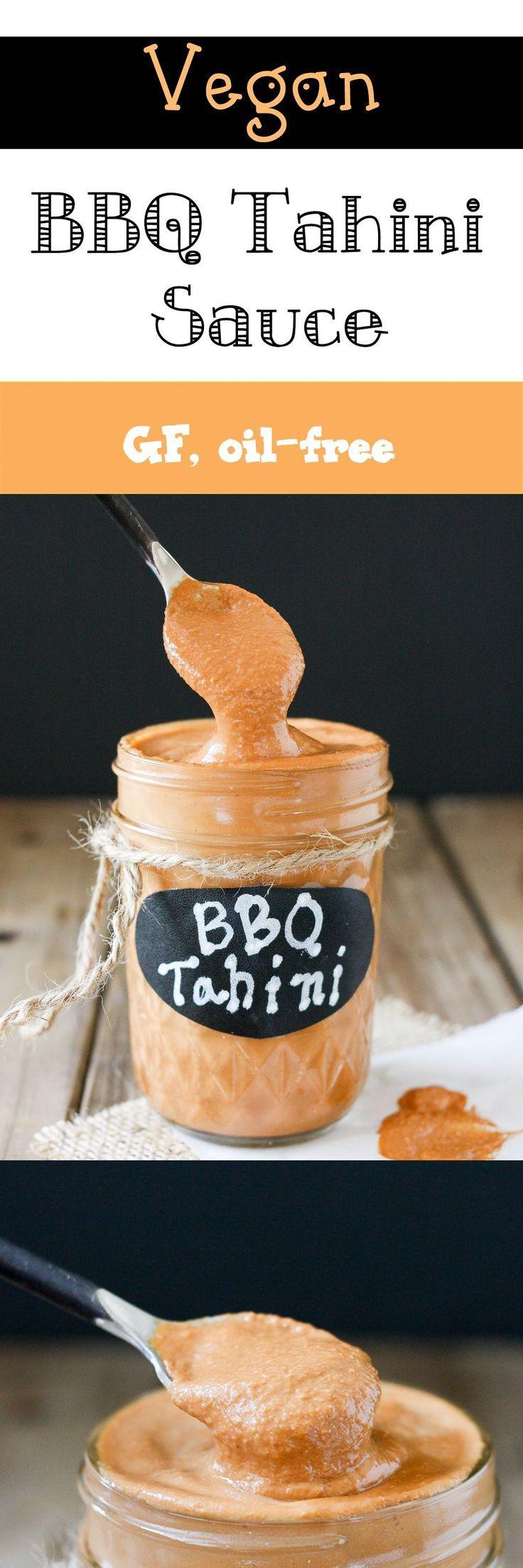 Barbeque Tahini Sauce | www.veggiesdontbite.com | #vegan #oilfree #glutenfree…