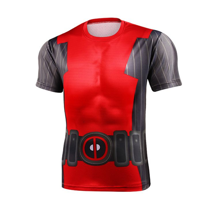 Hot 2016 Top Sales Superhero T shirt Spiderman Tshirt Batman Avengers Captain America 21 Style tights Men's T-Shirts man //Price: $US $6.26 & FREE Shipping //     #beauty