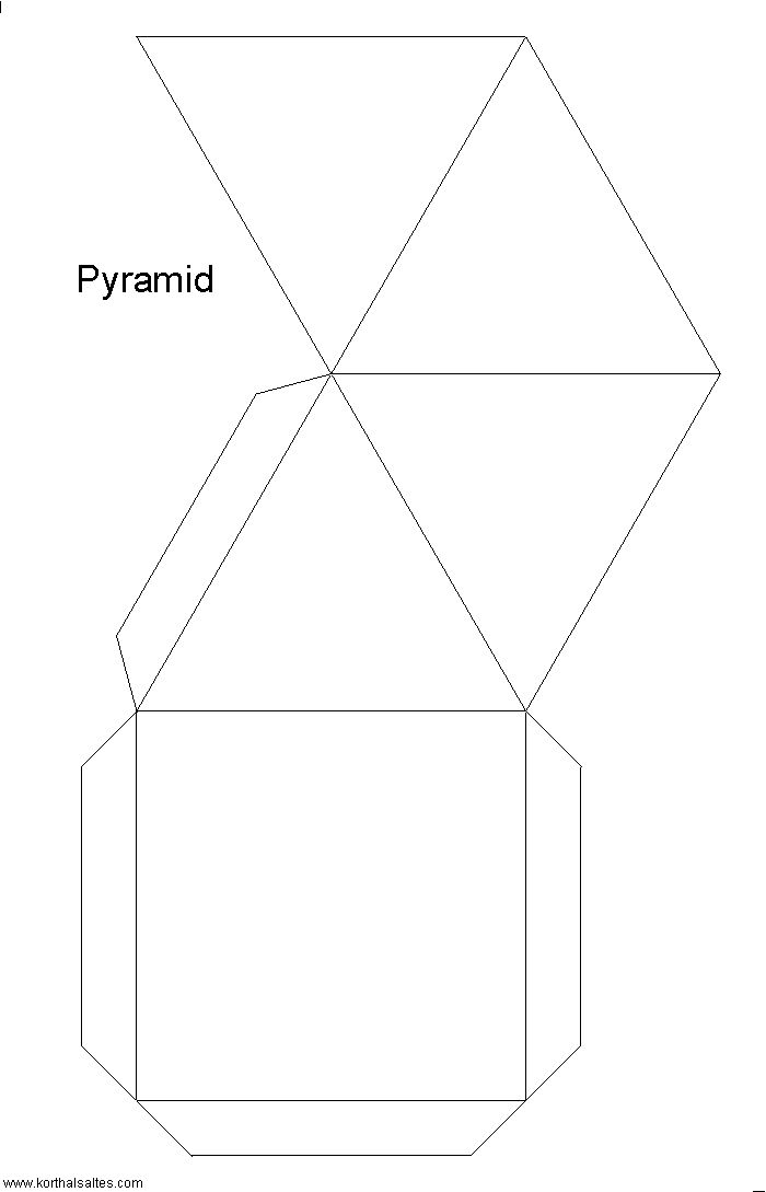 Pyramid Template  http://www.korthalsaltes.com/model.php?name_en=square%20pyramids