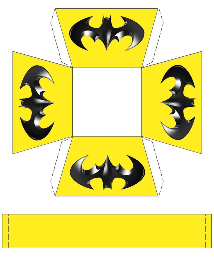 Batman basket for your next Batman party. Free to use & free to share <3