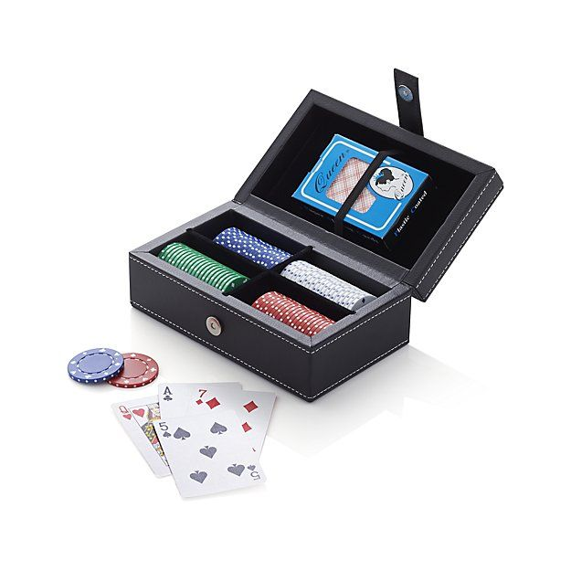 Travel Poker Set | Crate and Barrel $25 on clearance