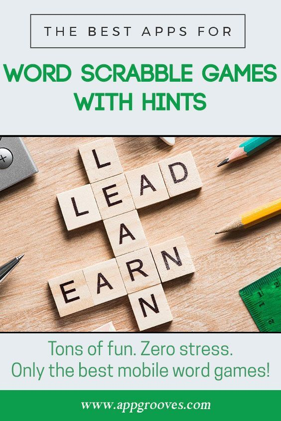 Best Anagram & Word Scrabble Games with Hints - AppGrooves: Discover