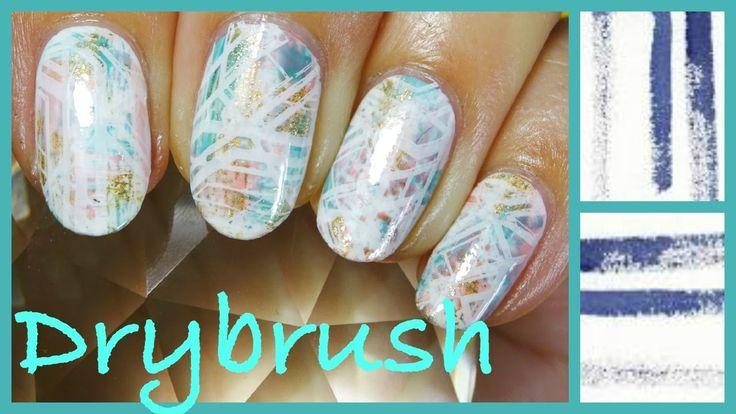 Drybrush with Stamping  ドライブラシとネイルスタンピング