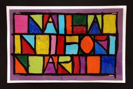 Paul Klee Abstract Name Design   http://www.artsonia.com/museum/art.asp?id=12339820=371607=y