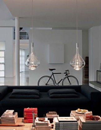 Lámparas de techo SKY-FALL. Colgantes modernos de cristal.