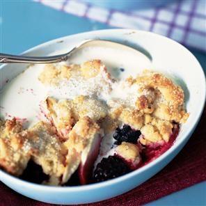 Pear and blackberry cobbler Recipe | delicious. Magazine free recipes