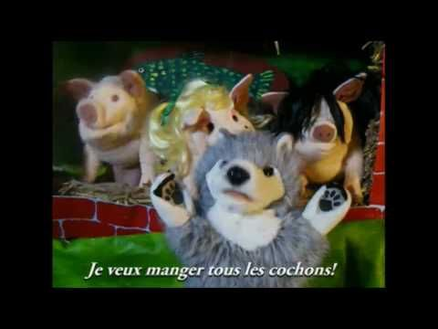 Les Trois Petits Cochons The three little pigs in French to the tune of Pokerface by Lady Gaga