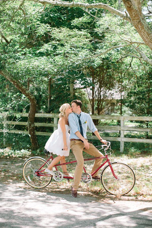 let's go on a tandem bike ride together #bike #beachwedding  http://www.weddingchicks.com/2013/12/10/cape-cod-beach-wedding/
